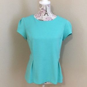 Mint green Liz Claiborne peplum top